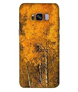 Nextgen Designer mobile skin for Samsung Galaxy S8 Edge :: Samsung Galaxy S8 Edge Duos :: Samsung Galaxy S8 Edge G935F G935 G935Fd (Snow Mountains cloudy Sky Sunset Snow Orange Sky)