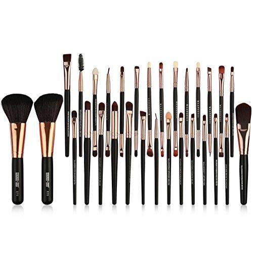 Bulary 30 pcs Eye Lot de pinceaux de poudre Brosse Maquillage Brosse Idéal pour mélange liquide, crème ou Poudre sans Faille Cosmetics