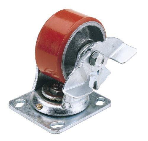 draper-65524-100mm-dia-swivel-plate-fixing-heavy-duty-polyurethane-wheel-with-brake-swl-250kg