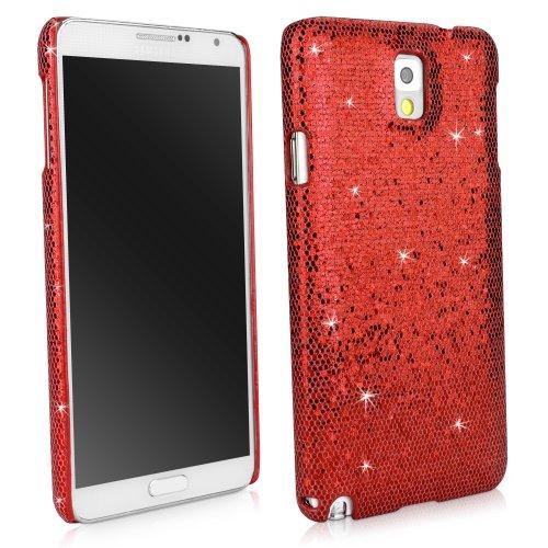 BoxWave Glamour & Glitz Samsung Galaxy Note 3Fall schmalem Backcover Schutzhülle mit Glitter Sparkle Bling Design-Samsung Galaxy Note 3Fällen (Ruby) (Jeweled Fall Für Note 3)