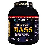 Fit Shadow Super Mass Gainer Protein Powder 3kg,(MANGO).Best Mass Gainer Protein Supplement For