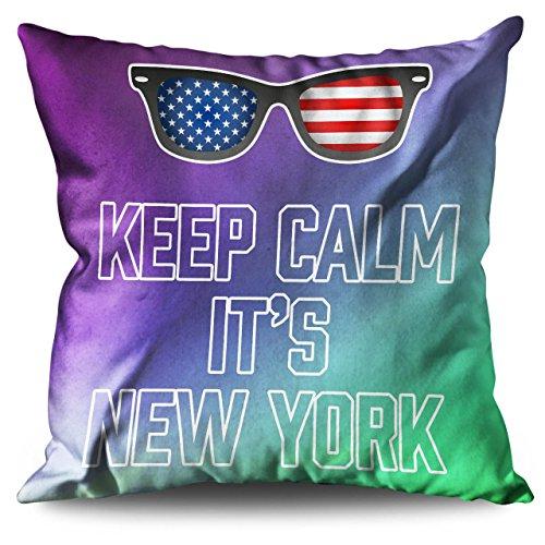 s Unidos Nuevo York Unido Unidos Leinen Kissen 55cm x 55cm| Wellcoda (Party-stadt Amerika)
