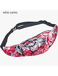 Buyworld 3D Printing Floral Rose Zip Waist Bag Pouch Fanny Pack Belt Bags Men Pocket Fashion Bolso Travel Unisex...