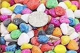 shun yi Kieselsteine für Vasen, Bunte Steine, leuchten im Dunkeln, polierte Kieselsteine für den Außenbereich, Aquarium, Landschaftsbau, Vasenfüller, Color Stone 2lb