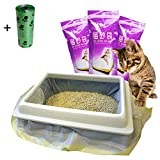 Best Cat Box Liners - moliwen Cat Litter Tray Liners with Drawstrings Bags Review