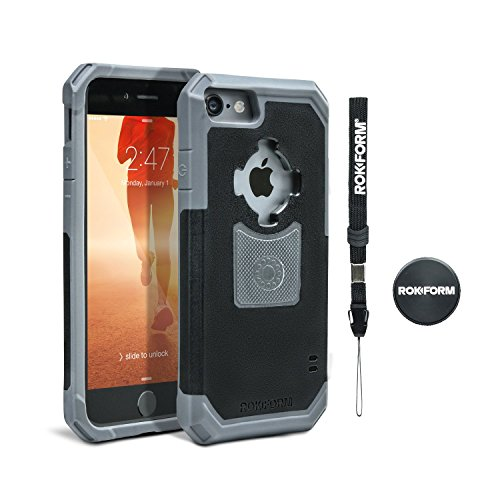 Rokform iPhone 7 Rugged V3 Case – w/ Car Magnetic Dash Mount (Rugged Gun Metal)