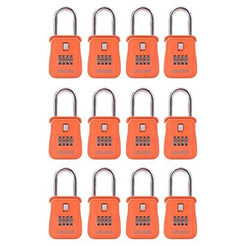 Lion Locks 1500 Key Storage Realtor Lock Box with Set-Your-Own Combination, (, Orange) by Lion Locks -