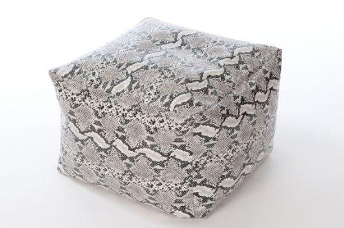 Teens Für Gaming-stühle (XL Cube Kunstleder Fußhocker Hocker Sitzsack Schlange Haut)