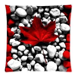 Canada Vintage feuilles d'érable Rouge Housse clic-clac + bande de Housse de coussin Home Decor coussin 45,7 x 45,7 cm (twin sides)-fermeture éclair