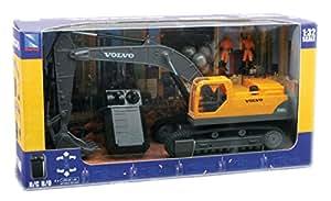 New Ray - 88103 - Véhicule Miniature - Radio Commande - Pelleteuse Volvo - EC 460B - 27 Mhz