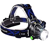 #5: Cartshopper Best Super Bright Headlamp Light Zoomable | Rechargeable Head Torch | Hands Free Head Flashlight LED Lamp Water Resistant Drop Resistant Head Lamp Spotlight for Camping Fishing Running Cycling for Atomic Beam Headlamp (batteries included)