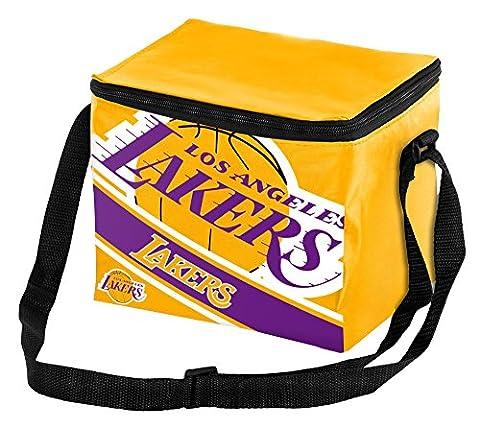 NBA Los Angeles Lakers Big Logo Stripe 6 Pack Cooler, 9 in. x 6 in. x 7 in.