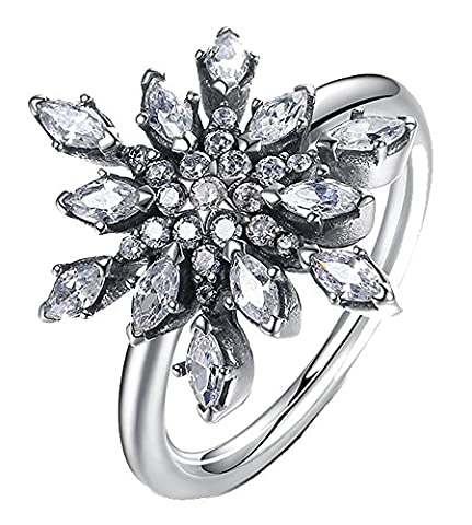 Snowflakes Costumes For Kids - SaySure- 925 Sterling Silver Crystalized Snowflake (SIZE