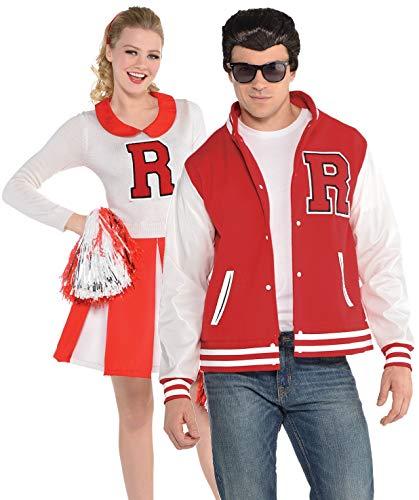 Fancy Me Herren und Damen Paare 1950er Jahre Cheerleader Fußball Jock American Dream TV-Film-Kostüme - Fett Kostüm Danny