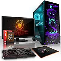 Fierce GOBBLER High-End RGB Gaming PC Desktop Computer Bundle - Fast 4.5GHz Hex-Core Intel Core i7 8700K, All-In-One Liquid Cooler, 240GB Solid State Drive, 1TB Hard Drive, 16GB of 2133MHz DDR4 RAM / Memory, NVIDIA GeForce GTX 1080 Ti 11GB, Gigabyte Z370