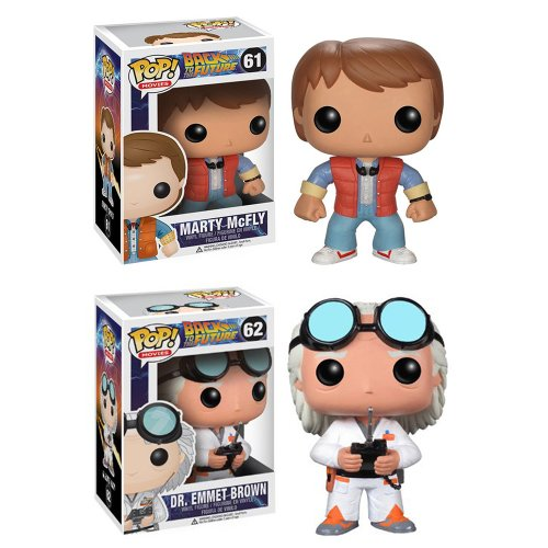 (Funko POP Vinyl Figure Back to the Future - Marty Mcfly & Doc Emmet Brown by FunKo)