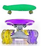 55,9cm Penny Shark Rad Style Retro Cruiser Skateboards Skaten Deck Boards Wave Rad Skateboard (grün)