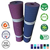 Colchoneta de Yoga no toxico, Antideslizante : con Correa de Transporte 183 x 61 x 0,6