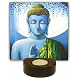 TYYC Buddha Tealight Candle Holder | Diwali Gifts Items Blissful Buddha Idol For Home Decor Tea Light Holders Set Of 1 - 6X6 Inches| T-lights Candles Diyas Lights Home Decor Items | Diwali Corporate Gifts For Office, Employees, Clients, Staff