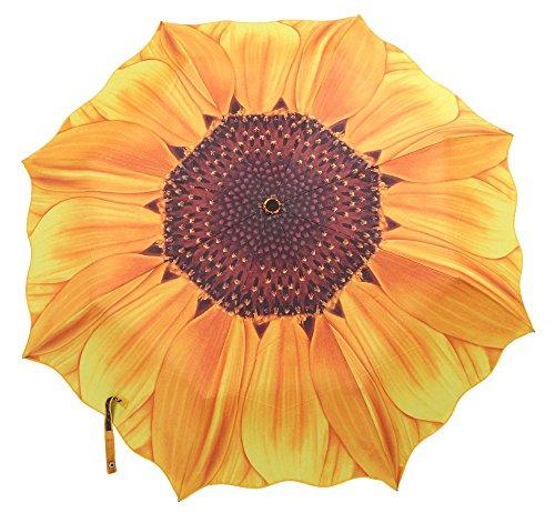 niceEshop (TM) Damen Tragbar Sonnenblume Regenschirm,Gelb