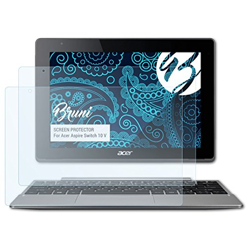 Bruni Schutzfolie für Acer Aspire Switch 10 V Folie, glasklare Bildschirmschutzfolie (2X)
