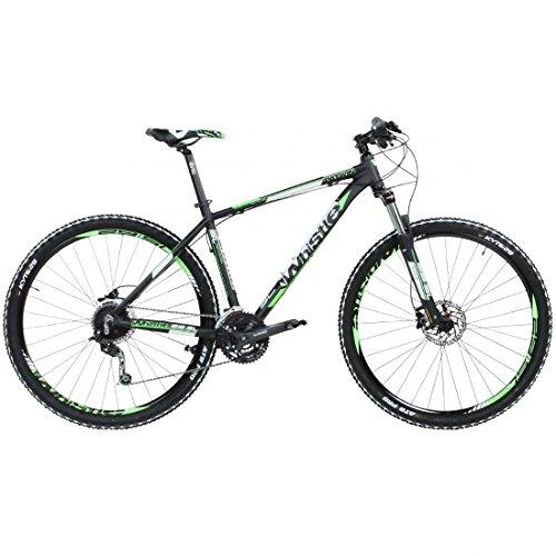 29\' Mountainbike Whistle Patwin 1501 27s schwarz grün, Rahmengrösse:17 Zoll