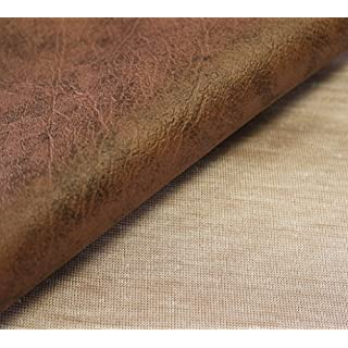 5m x 1.4m Of AestheTex Antique Brown Vinyl Fabric - Ideal as Fire Retardant Cover for Car and Boat Seats