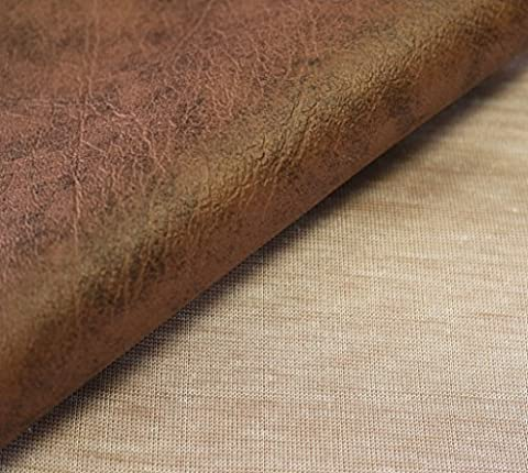 5m x 1.4m Of AestheTex Antique Brown Vinyl Fabric - Ideal as Fire Retardant Cover for Car and Boat