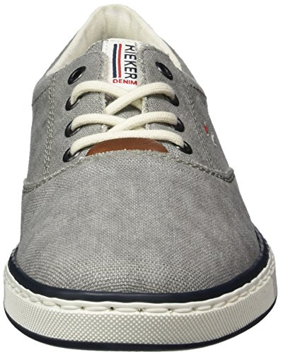 Rieker Herren 19650 Sneakers, Grau (Grey/Kastanie/40), 40 EU