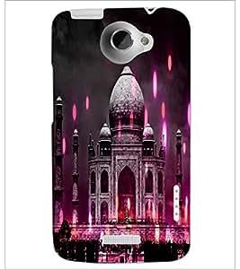 PrintDhaba Taj-Mahel D-3865 Back Case Cover for HTC ONE X (Multi-Coloured)