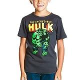 Hulk Kinder T-Shirt Marvel Markenware grau robustes Material Frontdruck - 104/116