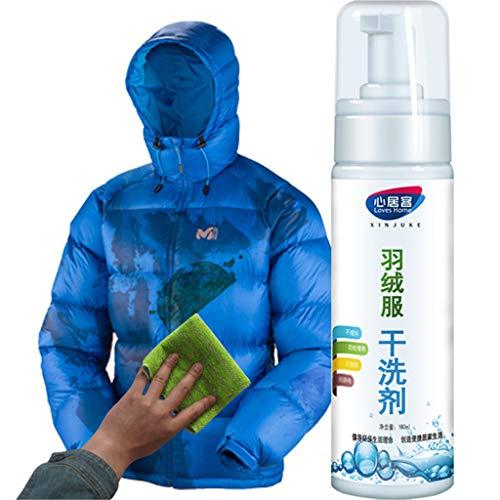 Glowjoy Reinigungsschaum für wasserlose Kleidung,Convenience Down Jacket Waschfreies Spray für Frische und Volumen mit zartem Duft, ideal für Reinigung von Daunen Jacken,Federbetten (180ML*2)
