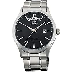 Orient Men's 41mm Steel Bracelet & Case Automatic Black Dial Analog Watch FEV0V001BH