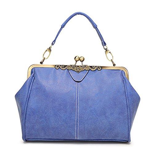 YYW Satchel, Borsa a secchiello donna Royal Blue