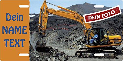 excavadora-de-cartel-propia-foto-con-el-texto-personalizable-cartel-de-chapa-metal-placa-digger-plac