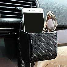 Yosoo Seggiolino auto ritorno interno Air Vent Tidy Coin Storage Bag Holder Case Organizer telefono Cell Pouch Box with gancio