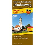 Bayerisch-Schwäbischer Jakobusweg: Leporello Wanderkarte mit Ausflugszielen, Einkehr- & Freizeittipps, wetterfest, reissfest, abwischbar, GPS-genau. 1:50000