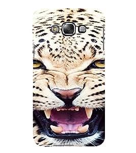 PrintVisa Leopard Animal Design 3D Hard Polycarbonate Designer Back Case Cover for Samsung Galaxy E7