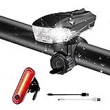 Fahrradlicht LED Set, STVZO-Standard Wasserdicht Fahrradbeleuchtung Set mit Automatisch Einstellbarer Helligkeit, Ideal Fahrrad Licht für Mountainbikes,Straßenrädern,Camping