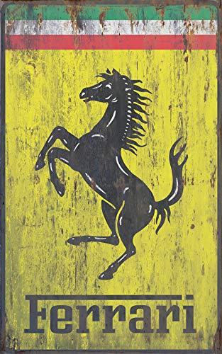 Vintage Ferrari - Placa metálica publicidad