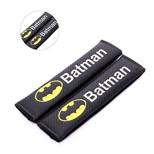 amooca Kohlefaser Sicherheitsgurt Strap-Cover für jeden 14mit Batman Logo (Schultergurt) von amooca (Fußball Pads Kostüm)