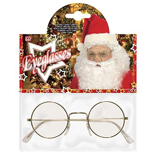Weihnachtsmann Brille Nikolaus Kostüm Verkleidung Maske