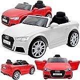 Baby-pur Kinder Elektroauto elektrisches Kinderauto Audi A3 12V Akku 2 Motoren mit Fernsteuerung, Licht, Musik, Federung, Türen