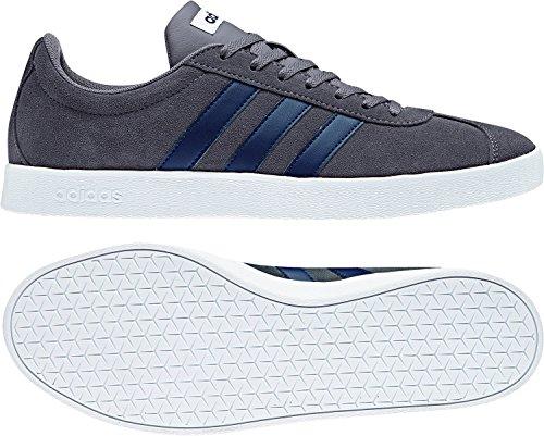adidas Herren VL Court 2.0 Gymnastikschuhe, Grau (Grey Four F17/Collegiate Navy/Ftwr White Grey Four F17/Collegiate Navy/Ftwr White), 43 1/3 EU (Top Adidas Tops-wettbewerb)