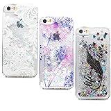 Lanveni Lot de 3 Coque pour iphone Se iphone 5 5s, Soft Housse Mignon Liquid Flowing...