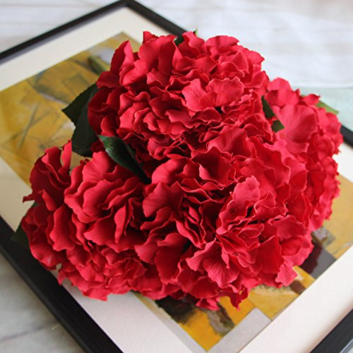 DYF Simulation de Haut Grade Fleur Plante Décoration Mariage,Big Red