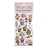 Porzellansticker, Porzellandekor, Cupcake, klebt auf Porzellan, Fliesen, Glas, glatten Oberflächen