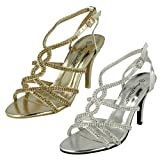 Ladies Anne Michelle Heeled Ankle Strap Sandal Shoes