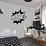 shiyueNB Film Sticker Citation Bang Vinyle Stickers Muraux pour Enfants Pépinière Garçons Chambre Art Mural Marvel Comics DIY Affiches 57 * 57 cm