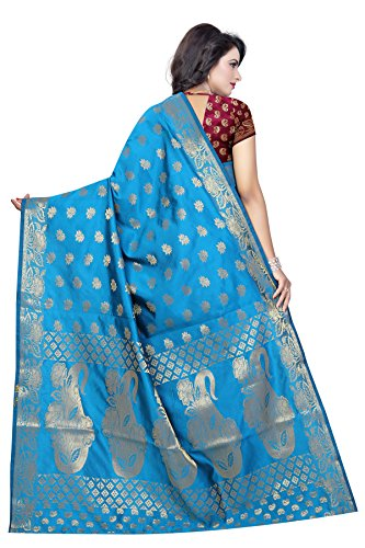 Arya Fashion Women's Cotton silk Saree